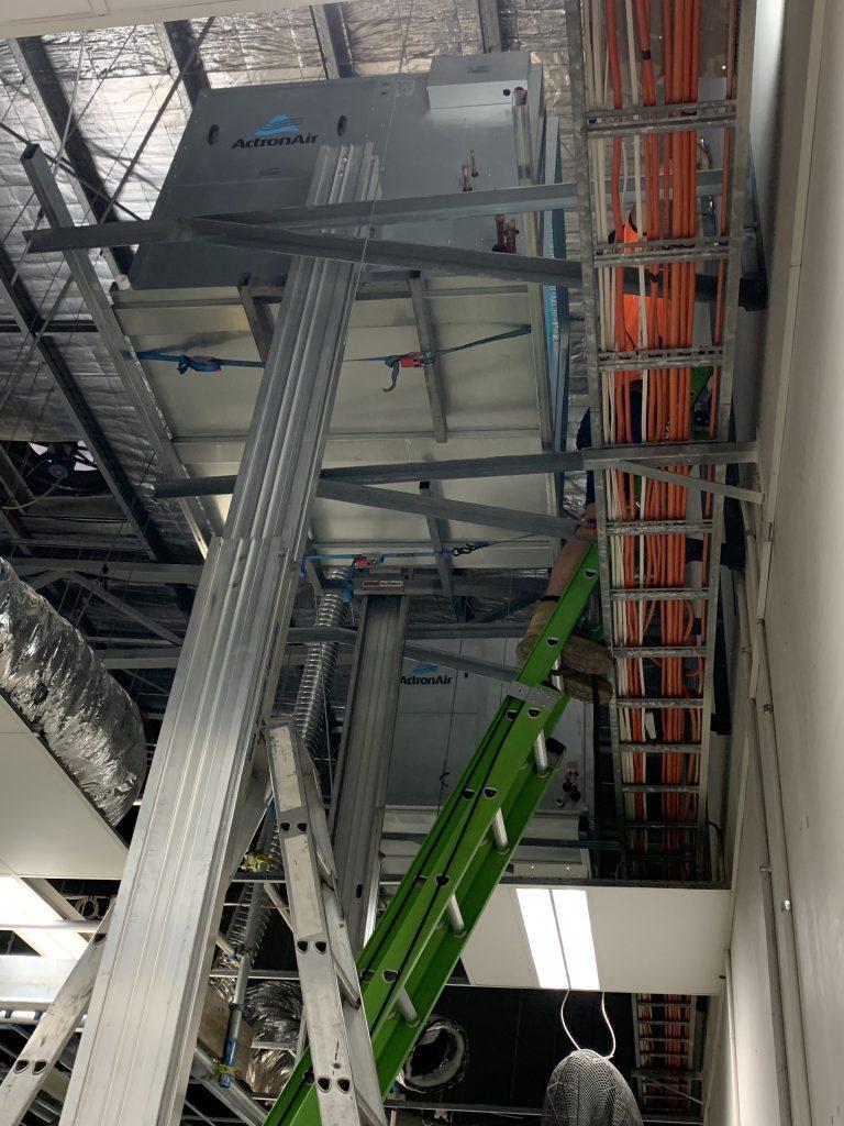 Custom built scaffolding